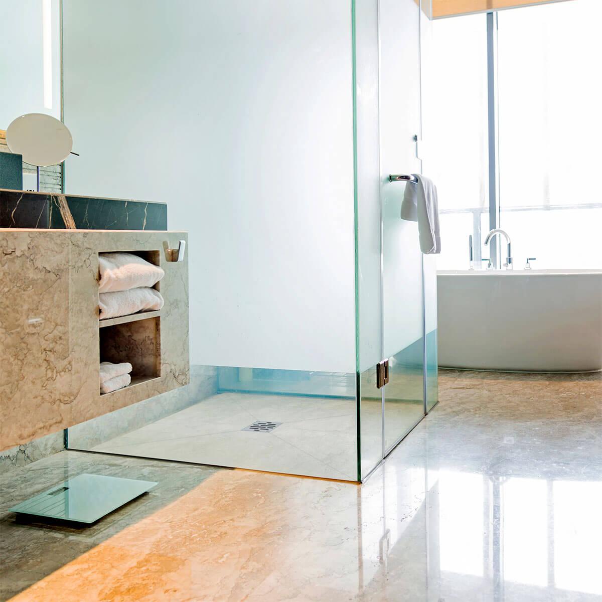 befliesbares duschelement eine trendige l sung f r ihr bad. Black Bedroom Furniture Sets. Home Design Ideas