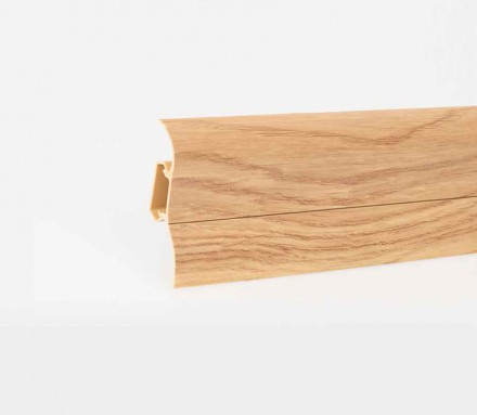MUSTER Sockelleisten Fußbodenleisten Kunststoff PVC Fussleisten 52 x 28mm