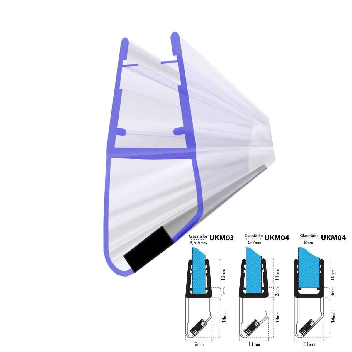 2m duschdichtung ukm04 magnetisch wasserabweisend magnetdichtung jumbo shop superg nstiger. Black Bedroom Furniture Sets. Home Design Ideas