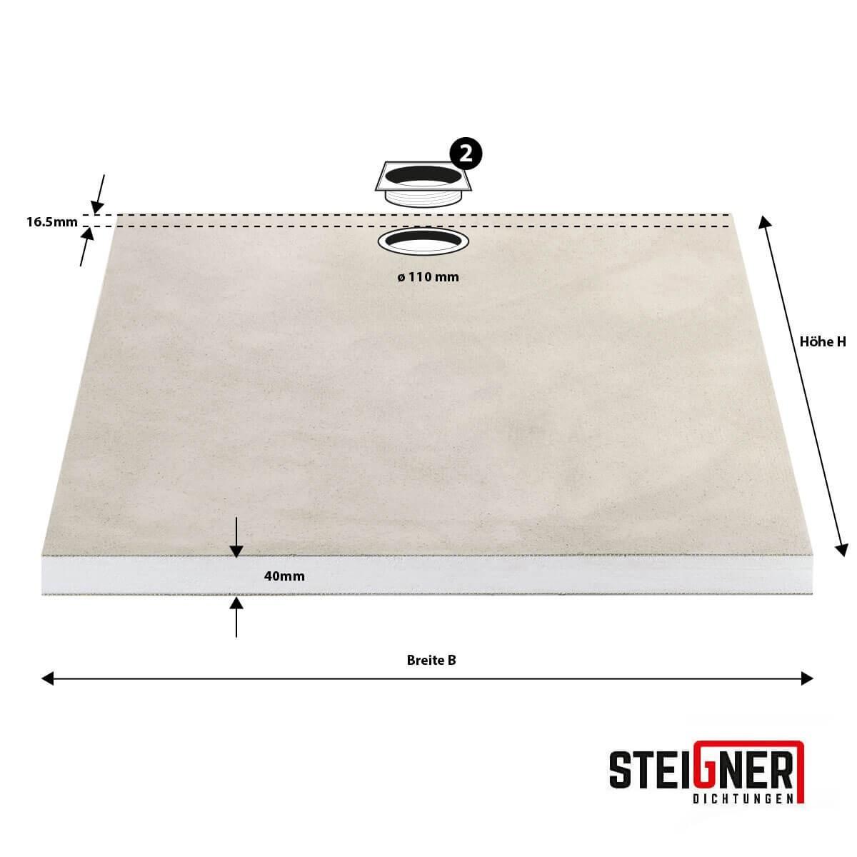 duschelement eckablauf bodeneben duschboard befliesbar mit mineralbeschichtung ebay. Black Bedroom Furniture Sets. Home Design Ideas