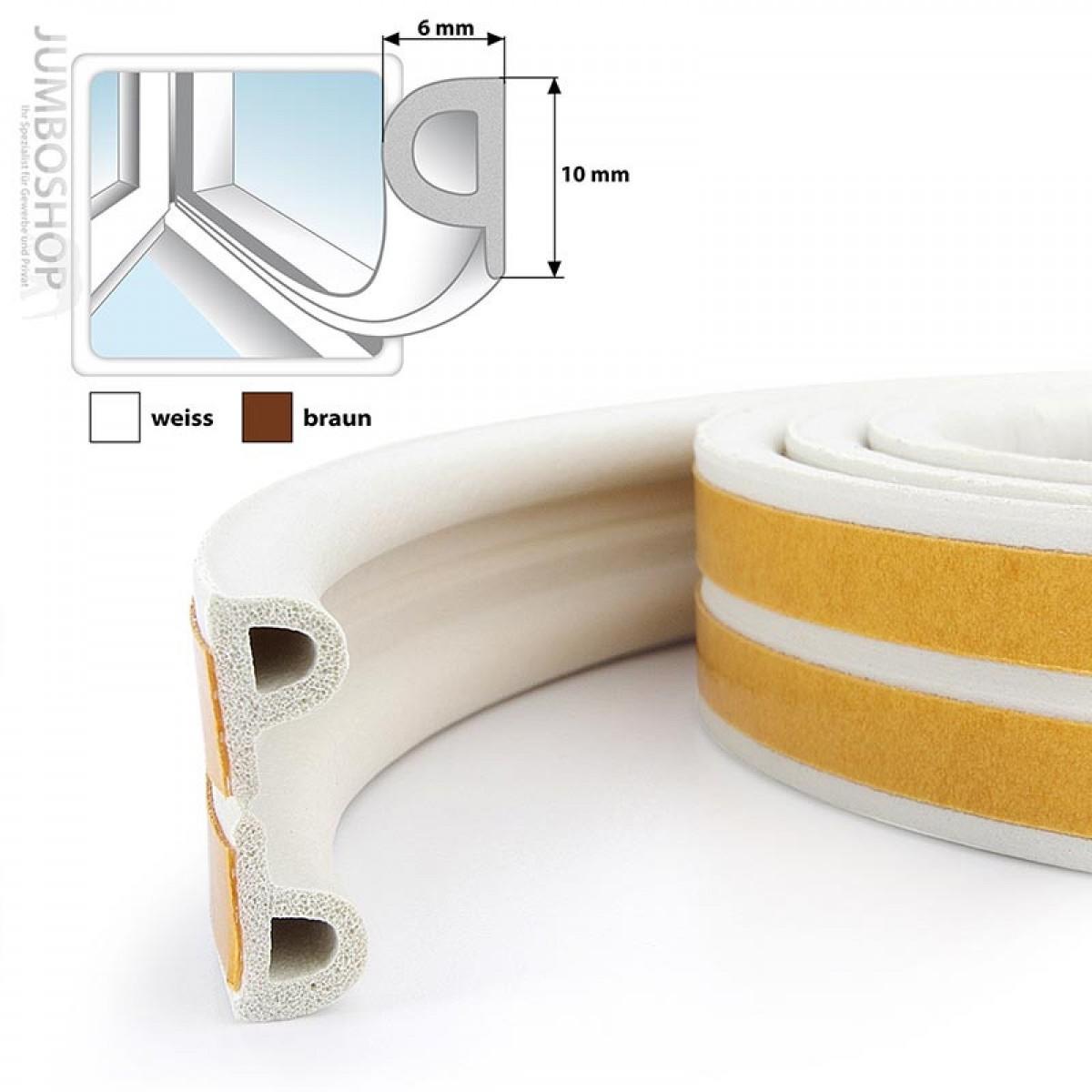 fensterdichtung gummidichtung selbstklebend braun p profil fensterdichtungen jumbo shop. Black Bedroom Furniture Sets. Home Design Ideas