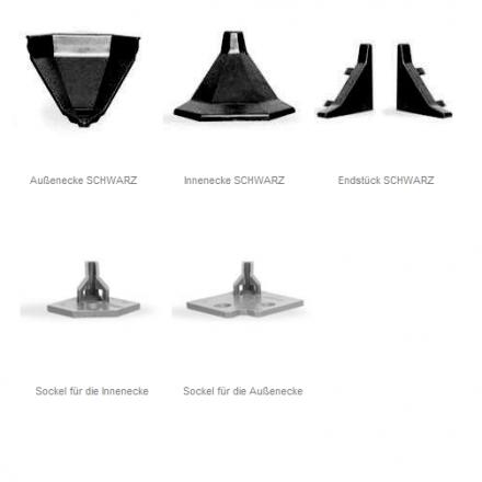 Zubehör passend für Küchenabschlussleiste LB32/ LB33/ LB34 Küche Arbeitsplatte