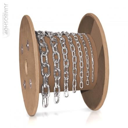 8mm Stahlkette Rundstahlkette Stahlkette KURZGLIEDRIG verzinkt