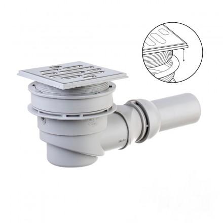 Duschablauf für bodengleiche Duschen Waagerecht SIPHON Ablaufgarnitur