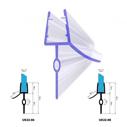 Duschdichtung UK22 Duschtürdichtung Duschkabinendichtung