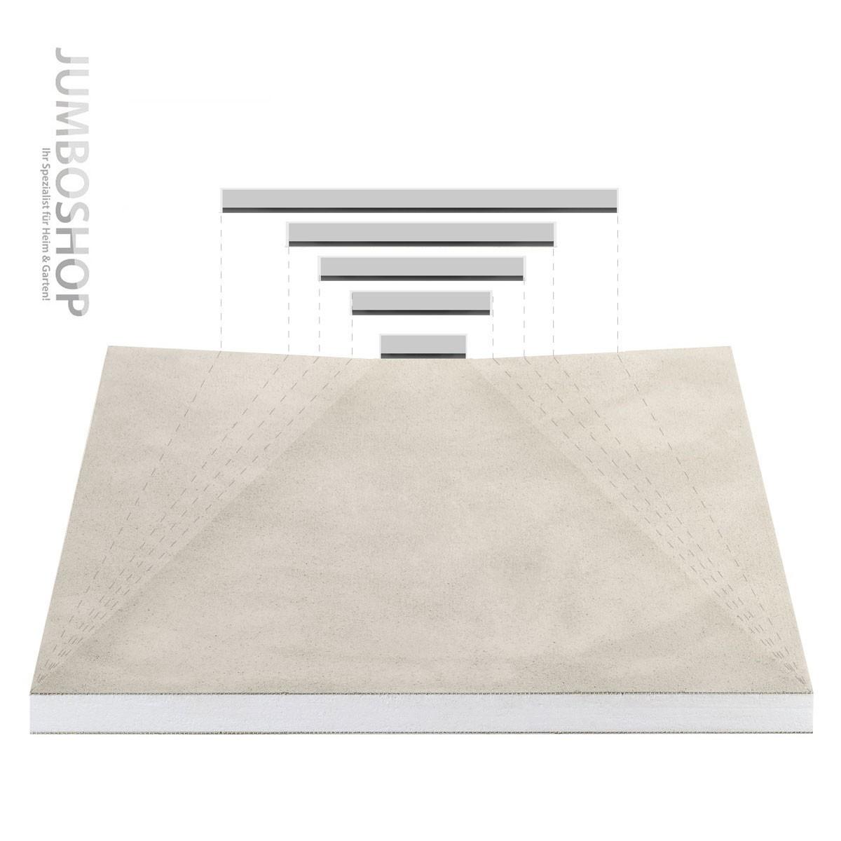 befliesbares duschelement ablauf seitlich arcom center befliesbares duschelement 90 x 90 cm. Black Bedroom Furniture Sets. Home Design Ideas