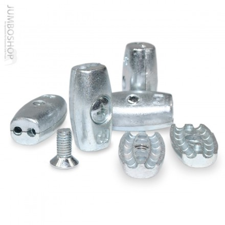 Drahtseilklemme EIFORM 5mm Seilklemmen Aluminium