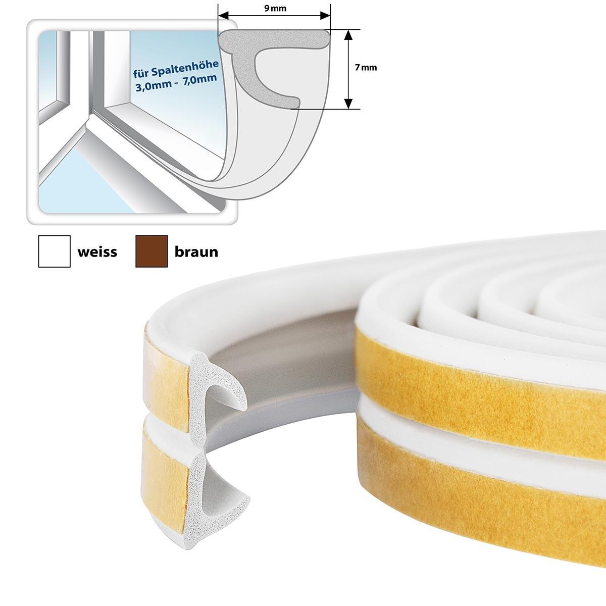 fensterdichtung gummidichtung selbstklebend wei v profil. Black Bedroom Furniture Sets. Home Design Ideas
