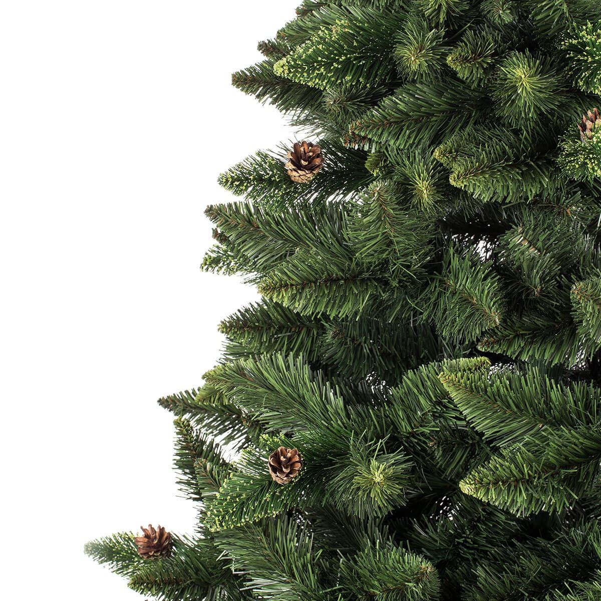 180cm k nstlicher weihnachtsbaum kiefer natur gr n. Black Bedroom Furniture Sets. Home Design Ideas