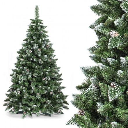 220cm künstlicher Weihnachtsbaum KIEFER *mit Schnee* Tannenbaum künstlich