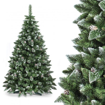 150cm künstlicher Weihnachtsbaum KIEFER *mit Schnee* Tannenbaum künstlich
