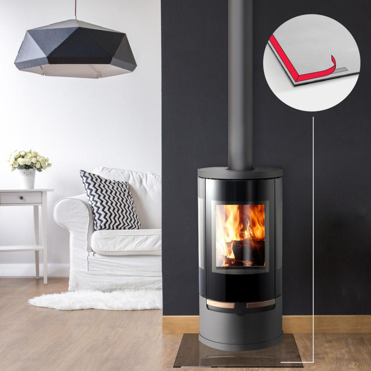 sililkon dichtlippe dichtband funkenschutzplatte kaminofen. Black Bedroom Furniture Sets. Home Design Ideas