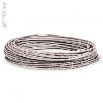 PVC Drahtseil 1 auf 2mm Stahlseil verzinkt PVC ummantelt