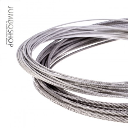 PVC Edelstahlseil Stahlseil 3,5mm (2,5mm Draht + 1mm PVC) 7x7 INOX V4A