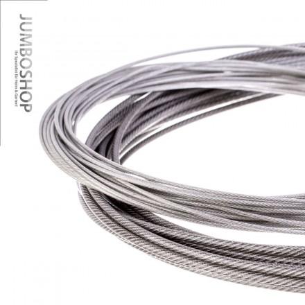 PVC Edelstahlseil Stahlseil 3mm (2mm Draht + 1mm PVC) 7x7 INOX V4A