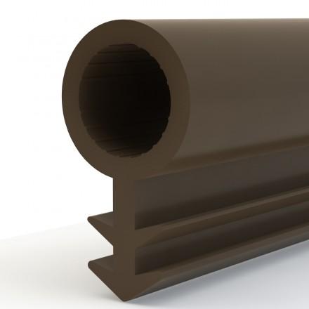 Türdichtung SCHLAUCHDICHTUNG Türgummi 4mm STD01 BRAUN Universal Dichtband Zimmertürdichtung