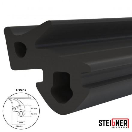 1m Fensterdichtung schwarz SFD07-S Gummidichtung TPE Dichtung Fenster Tür