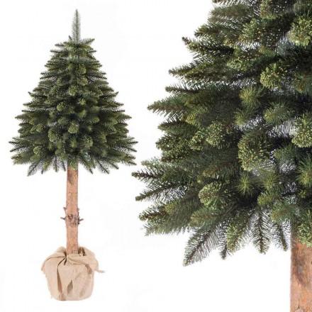 180cm Künstlicher Weihnachtsbaum FICHTE NATURSTAMM *Natur-Grün* Tannenbaum künstlich