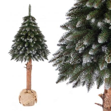 180cm künstlicher Weihnachtsbaum FICHTE NATURSTAMM *mit Schnee* Tannenbaum künstlich