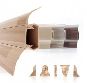 Sockelleisten Kunststoff in verschiedenen Dekoren