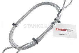 Das Stahlseil mit Ösen als Anschlagseil oder Windenseil