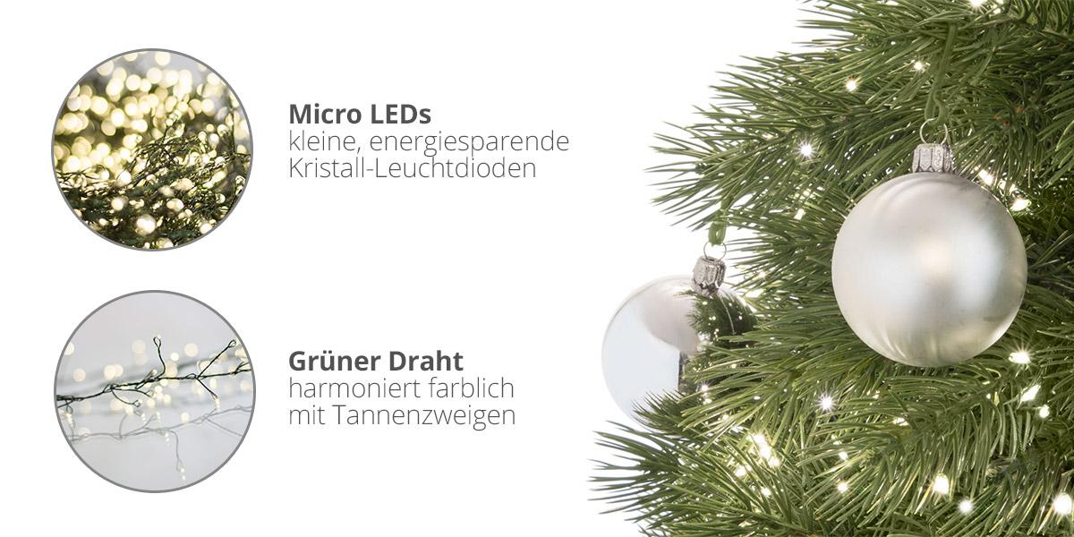 LED Lichterkette für eine atemberaubende Weihnachtsbaumbeleuchtung