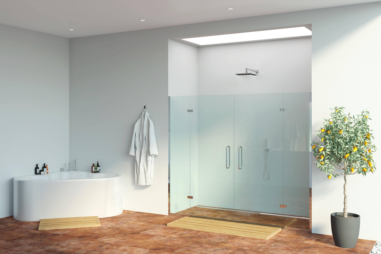 Funktionalle und moderne Dusche