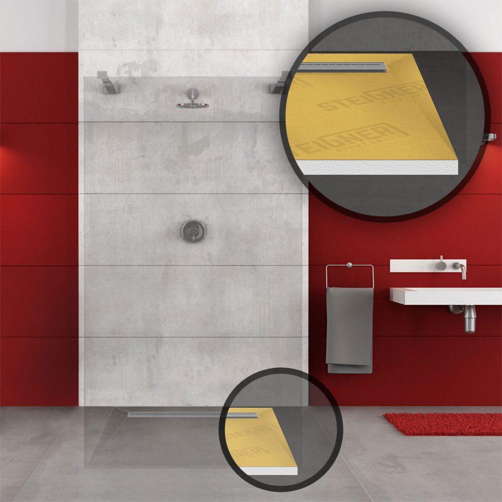 Duschboard - das wichtigste Element bei einer Duschabdichtung