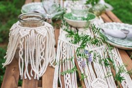 Makramee – Eine angesagte Baumwollseil Knüpftechnik aus dem Orient