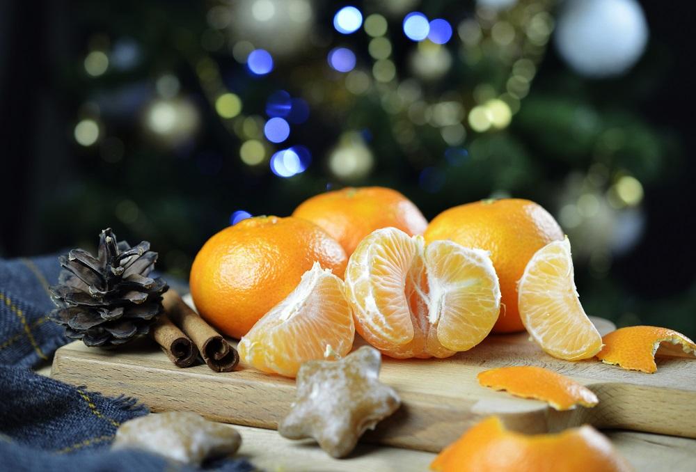 mandarinen am weihnachten