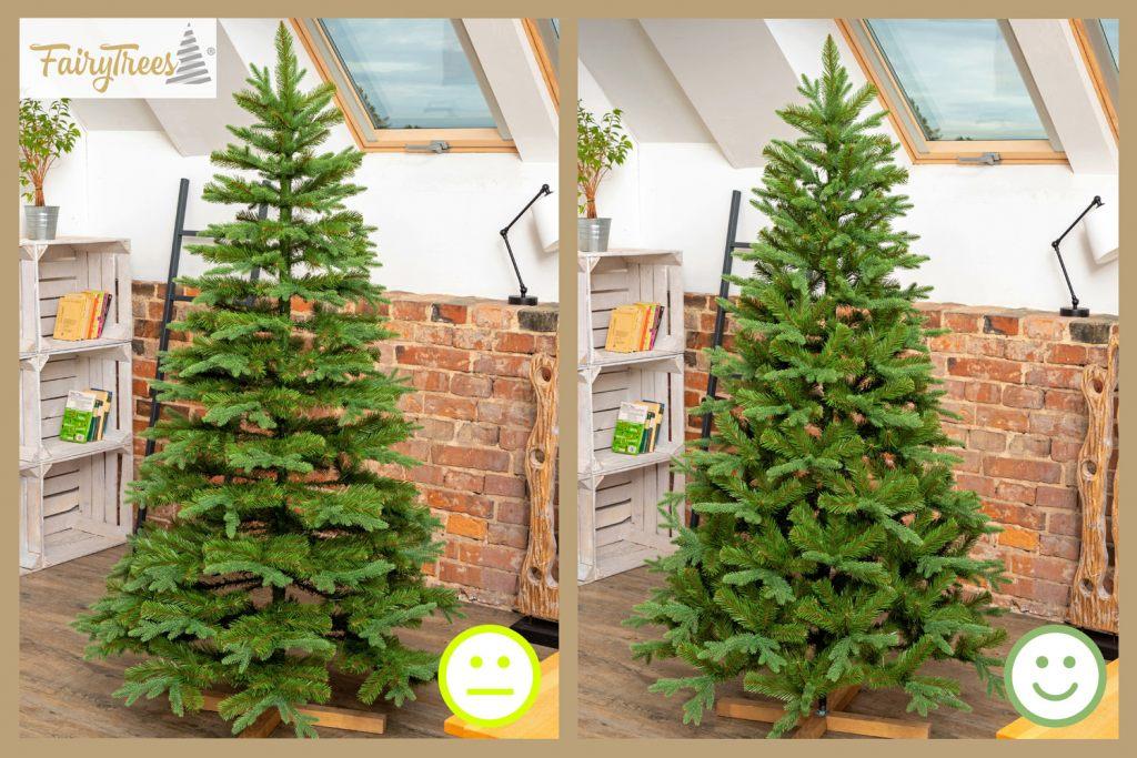 vergleich-bei-richtig-aufgebiautem-kunstlichem-weihnachtsbaum-von-fairytrees