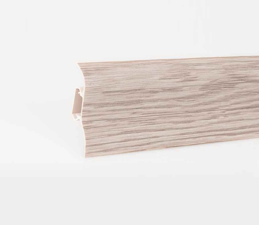 sockelleiste 2 5m aus pvc sockelleisten mit kabelkanal eiche kiefer erle buche ebay. Black Bedroom Furniture Sets. Home Design Ideas