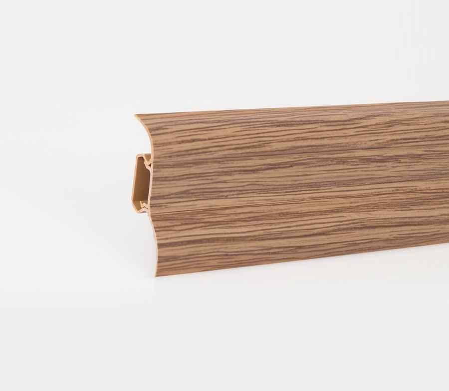 muster sockelleisten fussleisten laminat aus kunststoff mit kabelkanal 52x28mm ebay. Black Bedroom Furniture Sets. Home Design Ideas