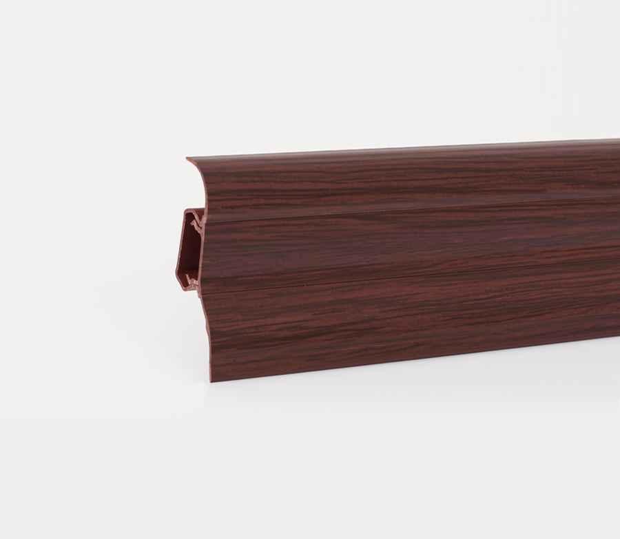 2 5m sockelleisten fussleisten aus kunststoff mit kabelkanal 52x28mm laminat ebay. Black Bedroom Furniture Sets. Home Design Ideas