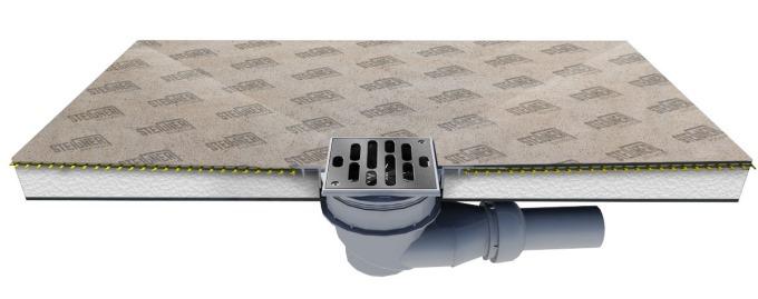 duschelement duschboard befliesbar bodeneben mit mineralbeschichtung duschtasse ebay. Black Bedroom Furniture Sets. Home Design Ideas