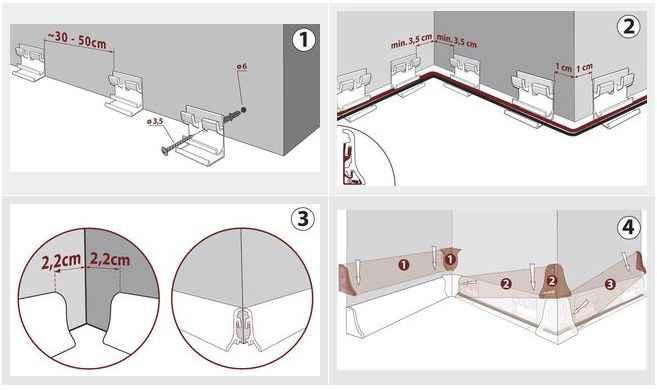 sockelleisten fussleisten 48mm x 19mm strukturierte holzoptik mit maserung ebay. Black Bedroom Furniture Sets. Home Design Ideas