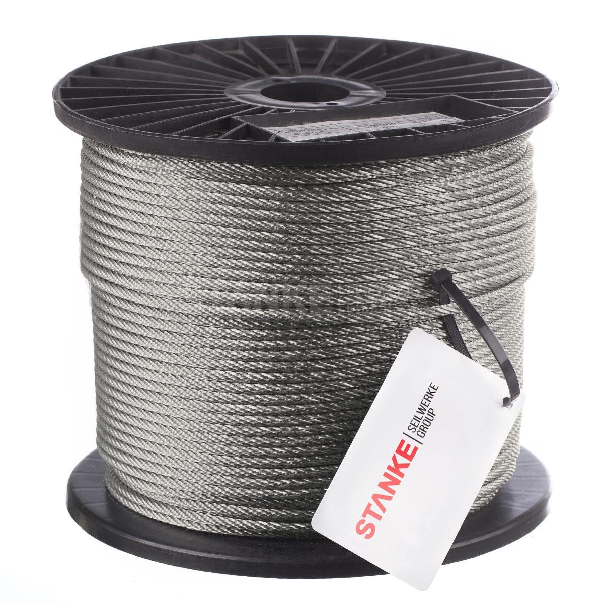 Edelstahl Drahtseil Draht Seil für Geländer 7x7 V4A A4 Stahlseil weich NIRO