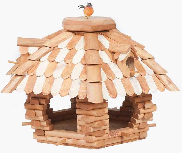 xxl vogelhaus vogelfutterhaus luxus vogelh uschen vogelvilla mit futtersilo 60cm. Black Bedroom Furniture Sets. Home Design Ideas