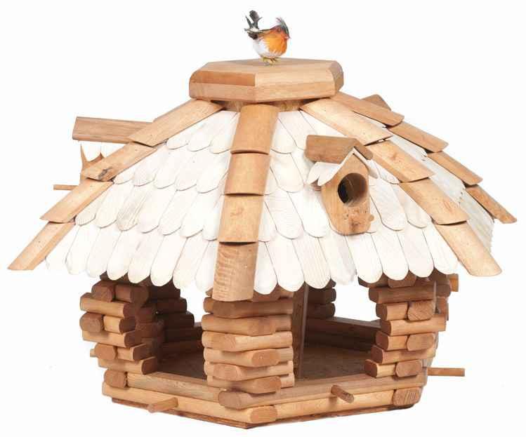 xxl vogelhaus vogelfutterhaus luxus vogelh uschen vogelvilla mit futtersilo 60cm ebay. Black Bedroom Furniture Sets. Home Design Ideas