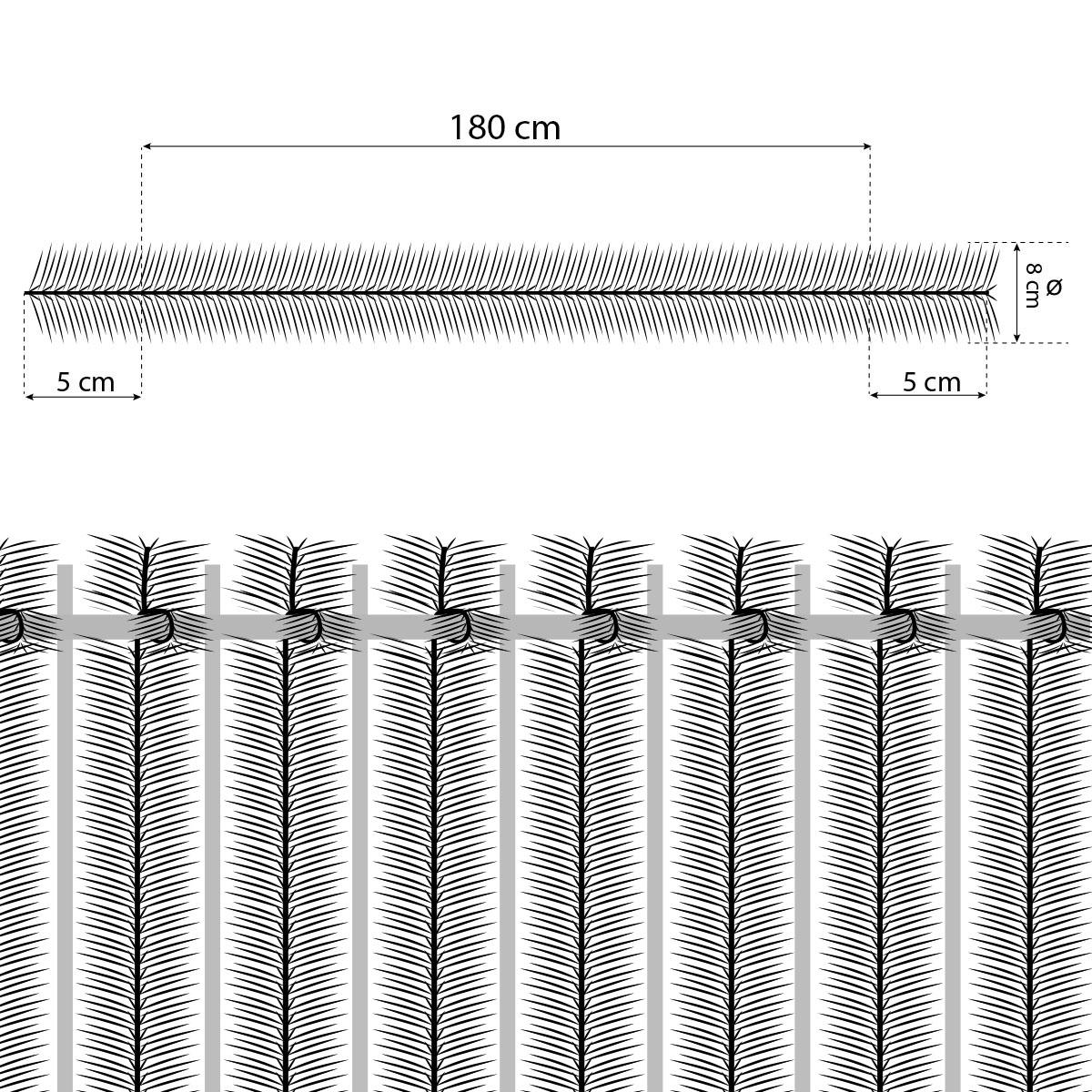 Sichtschutz-Balkon-Windschutz-PVC-Zaunblende-Kiefernoptik-Gruen-Schattiernetz