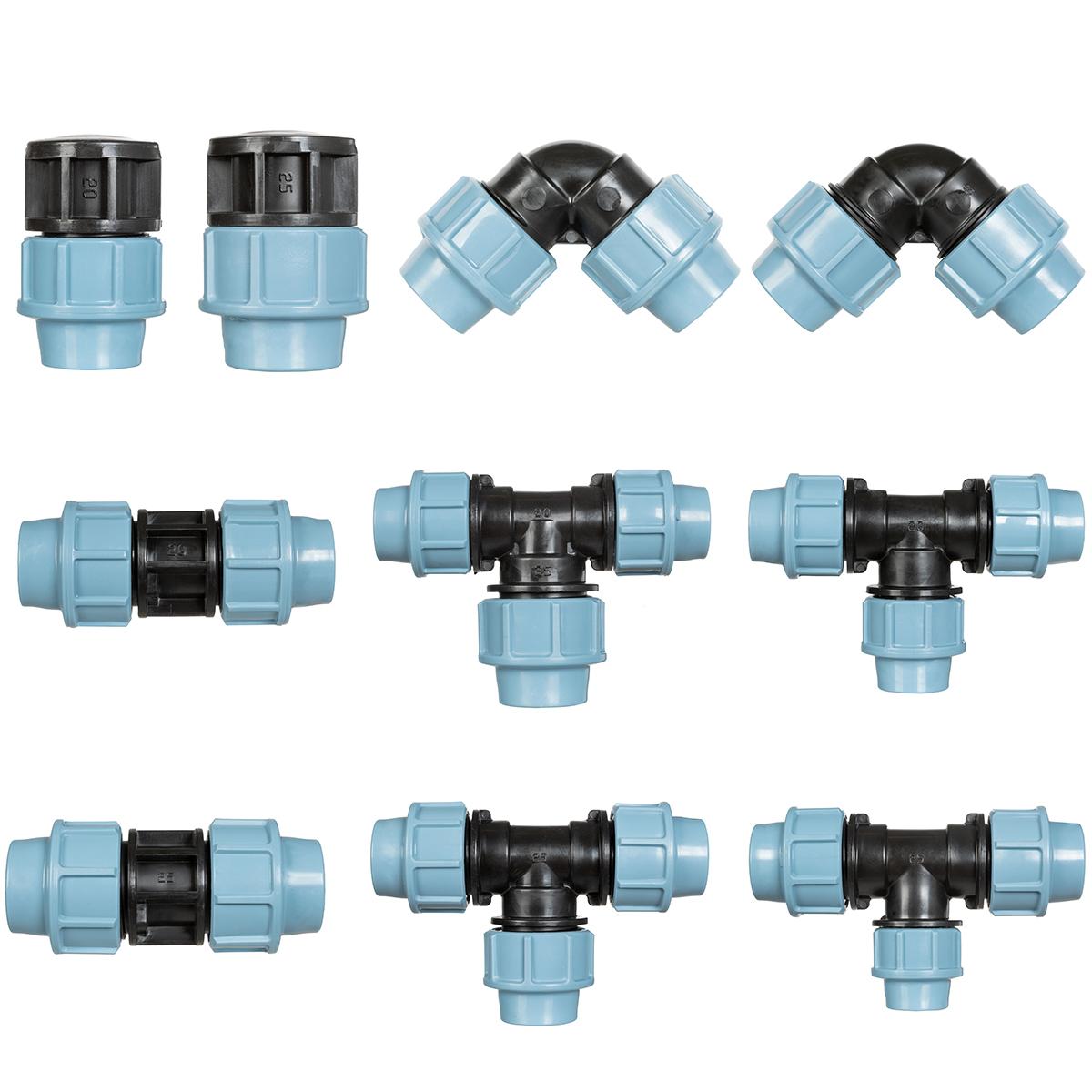 Zubehör für Tropfschlauch Perlschlauch Verlegerohr Verbinder Winkel T-Stück