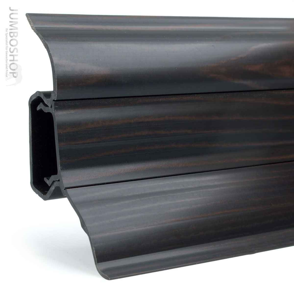 fussleisten sockelleisten pvc kunstoff laminat sockelleiste kabelkanal 52x28mm ebay. Black Bedroom Furniture Sets. Home Design Ideas