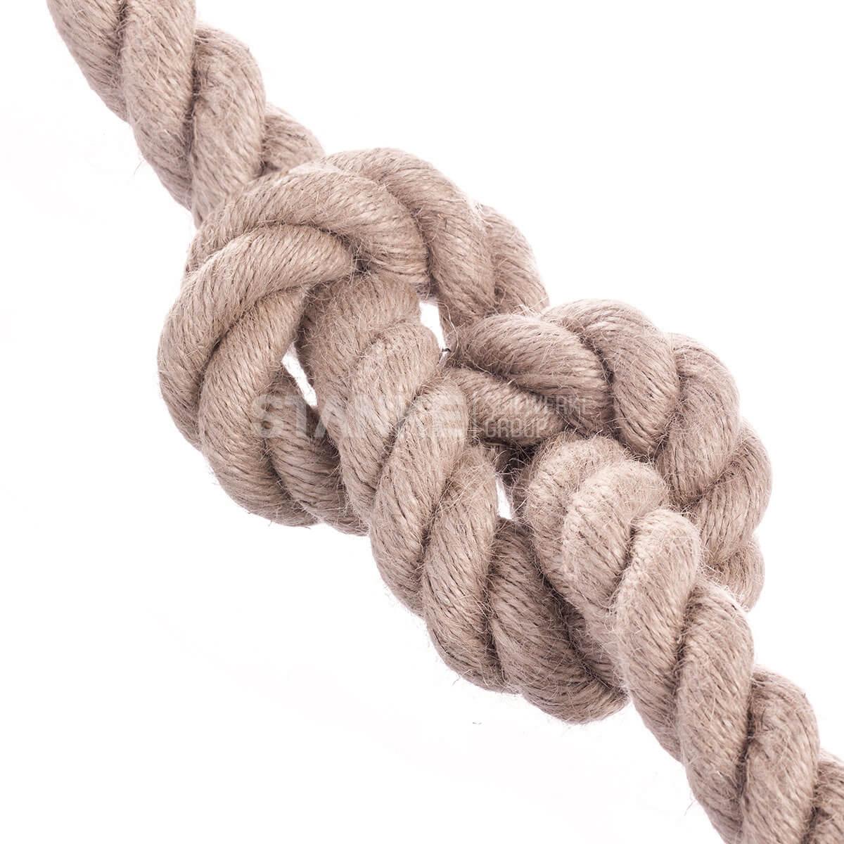 SFS JUTESEIL 6mm 40mm Tauwerk Seile Leine Rope Naturhanf Hanfseil Tauziehen Jute Tauziehen Absperrseil Handlauf Dekoration DIY IST-Bild