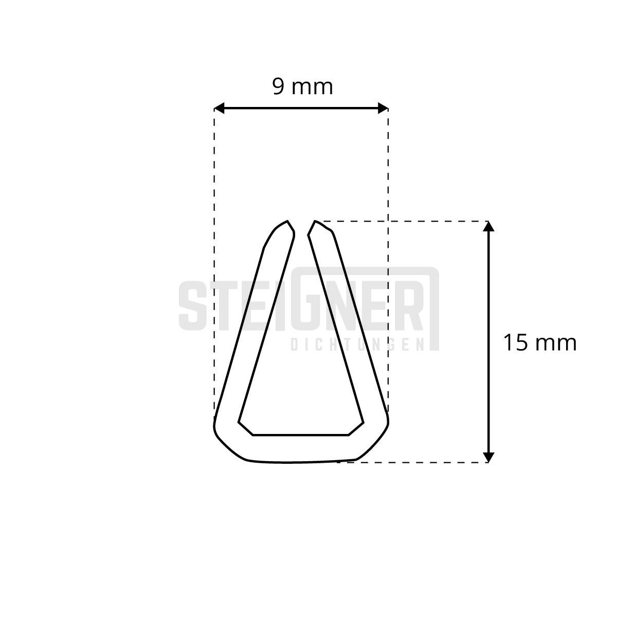 Gummidichtung-Kantenschutz-Kederband-Kofferraumdichtung-Tuerdichtung-Keder