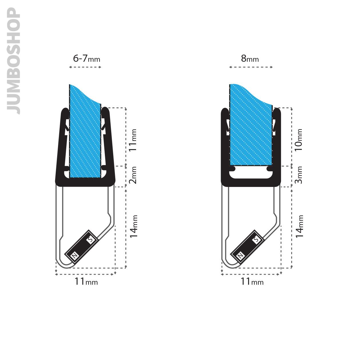 Duschdichtung-gerade-amp-gebogen-Rundbogen-Runddichtung-Runddusche-Wasserabweiser