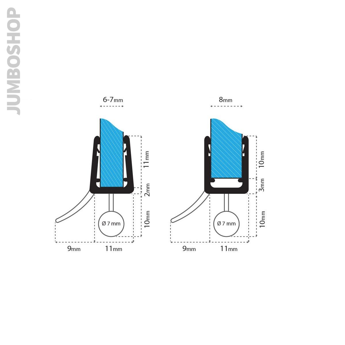 Ersatzdichtung-Wasserabweiser-Schwallschutz-Duschdichtung-Duschkabine-Dusche