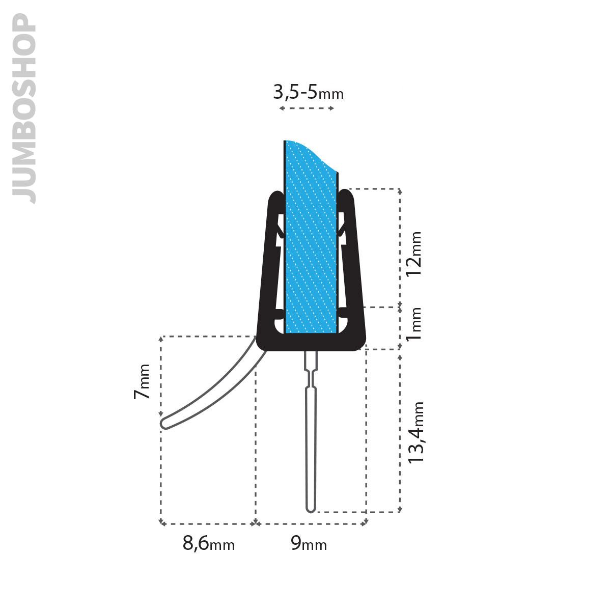 Ersatzdichtung-Wasserabweiser-Duschdichtung-Schwallschutz-Duschkabine-UK03-UK13