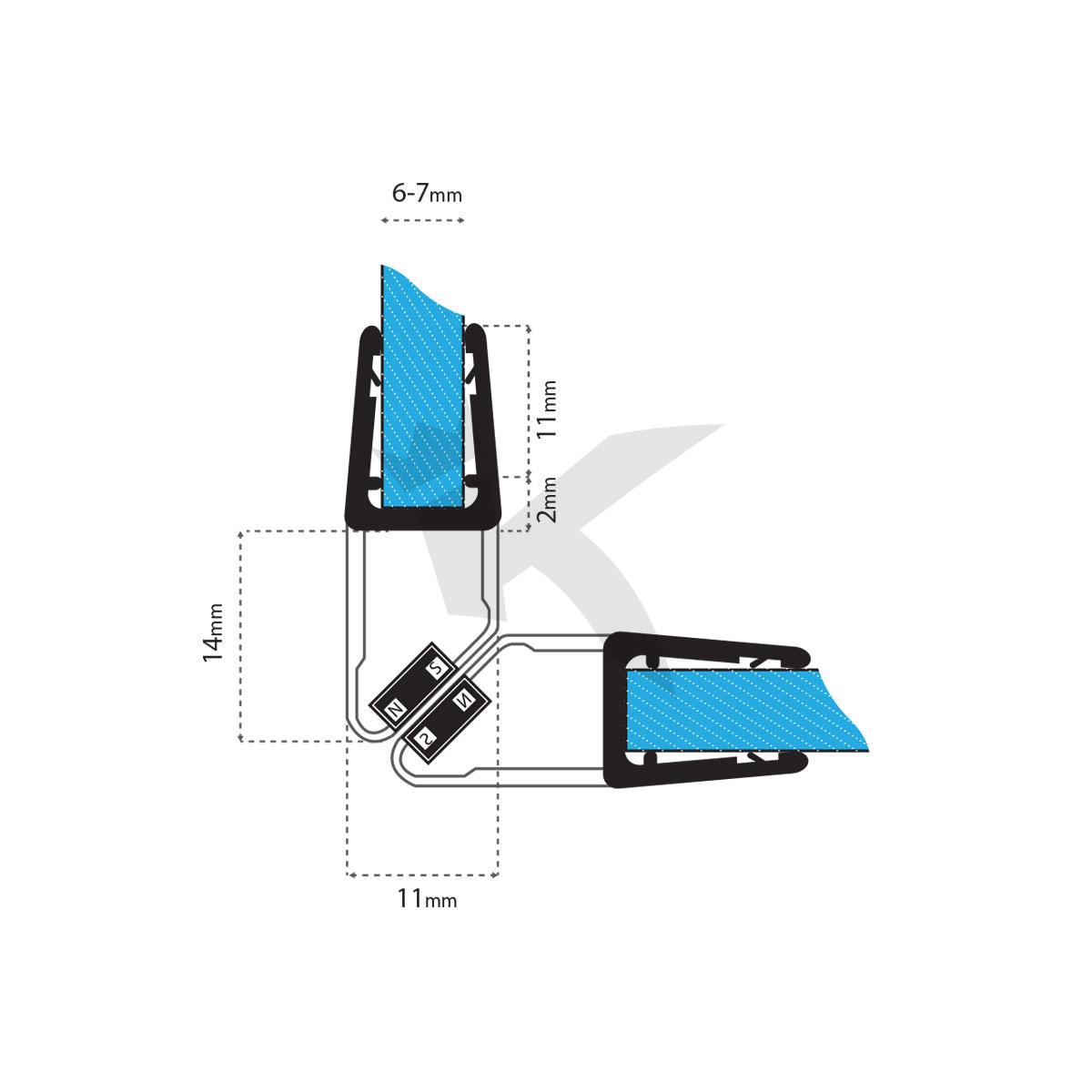duschdichtung magnet wasserabweiser ersatzdichtung duschprofil duscht r dichtung ebay. Black Bedroom Furniture Sets. Home Design Ideas