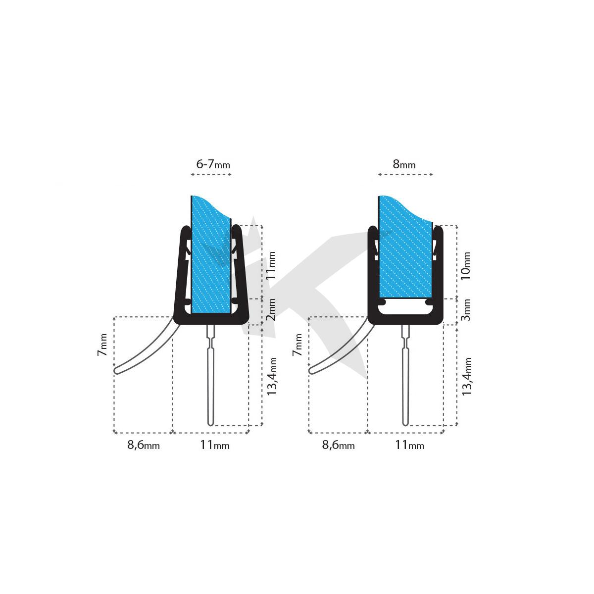 Duschdichtung-3-5-8mm-Duschprofil-Wasserabweiser-Ersatzdichtung ...