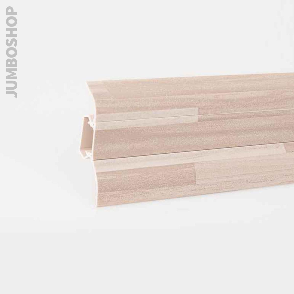 sockelleisten 2 5m fussleisten aus kunststoff mit. Black Bedroom Furniture Sets. Home Design Ideas